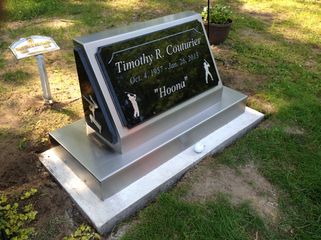 Timothy R. Couturier Headstone. Custom Stainless Steel Crafted Headstone for our loving brother.