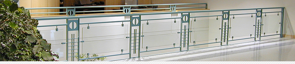 Bronson Hospital, Kalamazoo, Couturier Iron Craft, railing, railings, custom