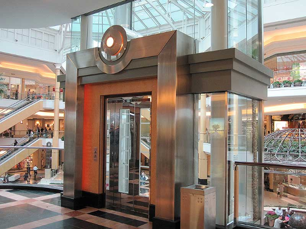Stainless steel formed sheet metal elevator enclosure
