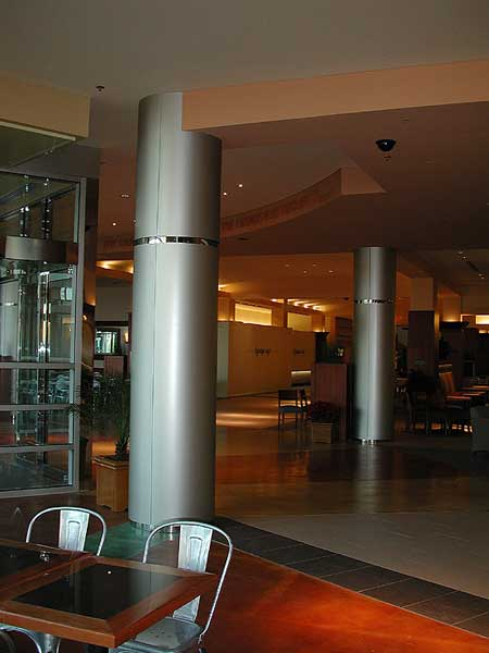 Decorative Metal Stainless Steel Column Covers With Polished Mirror Finish  Reveals