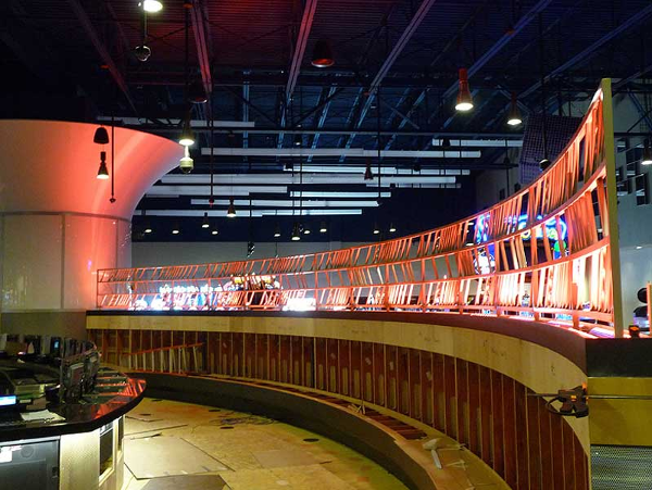 Fabricated ornamental divider wall at Firekeepers Casino