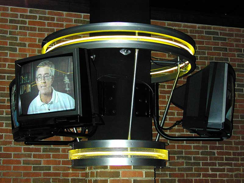 Decorative audio equipment support for televisions