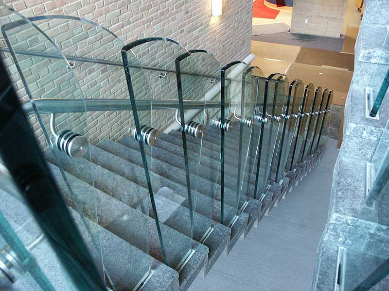 Grosse Pointe Public Library, glass, railing, railings