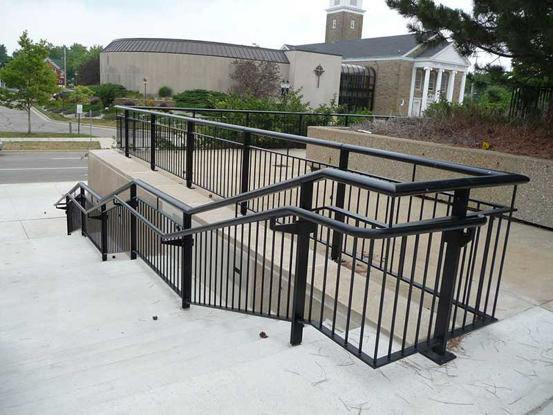 The Ovation system is a fully hand welded aluminum railings system, not a swedged connection design.