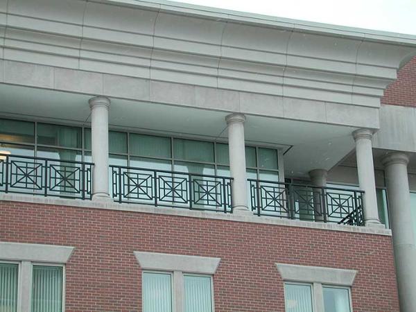 Custom decorative aluminum railings with powder coat paint finish.