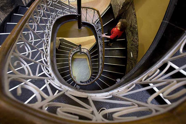 Couturier Iron Craft reproduced the long time removed circular staircase to match the existing stairs.
