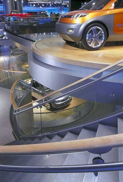 Custom stairs for corporate show exhibit displays