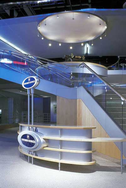 Couturier is a supplier of stair systems for trade shows and convention exhibits