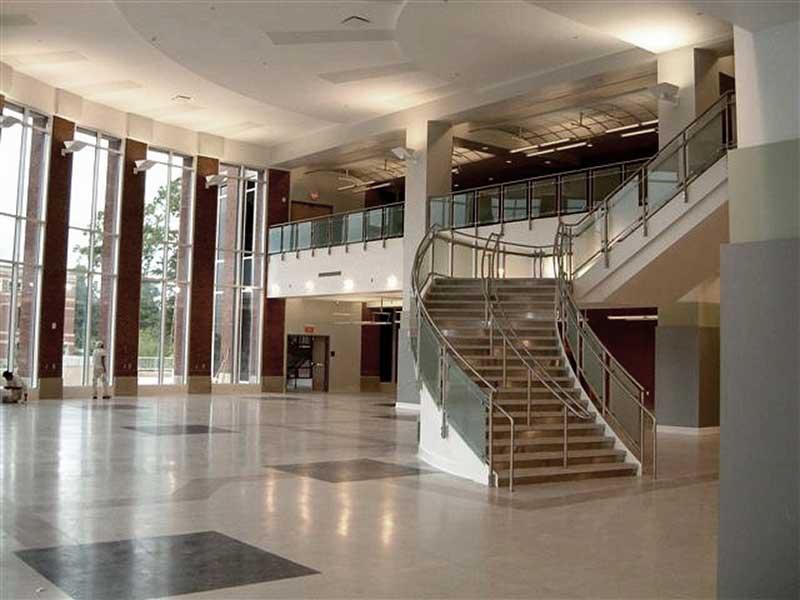 Custom fabricated stair and balcony railings