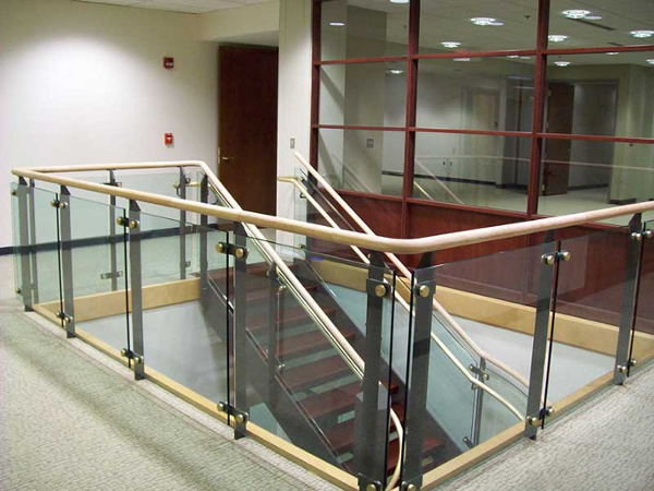 Ornamental staircase and railings at Farmington State Bank, MA