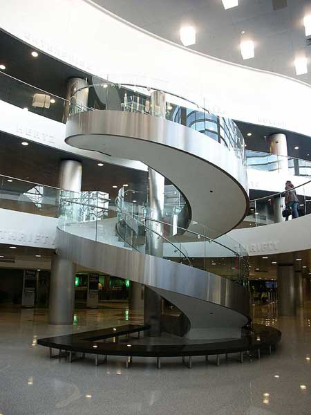 Beautiful stainless steel circular stairs from Couturier Iron Craft