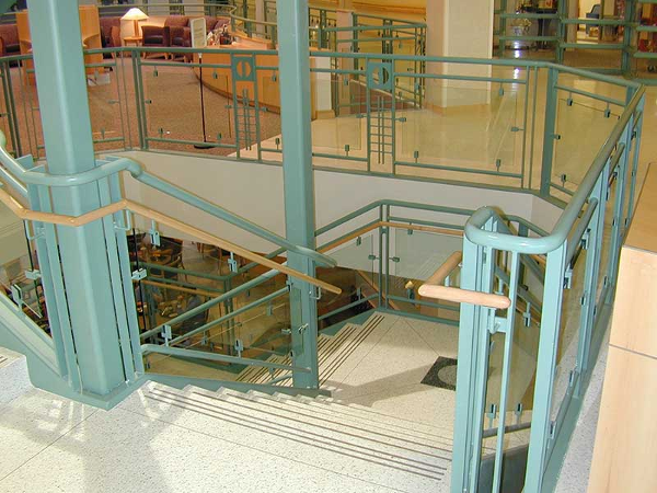 Custom design stairways winding down