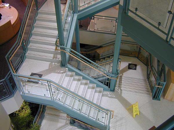 Multi flight stair at Bronson hosp.