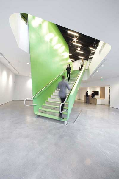 Big green stair is made with 3/4' steel plate
