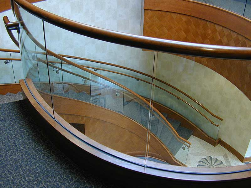 View of Glass Railing from balcony