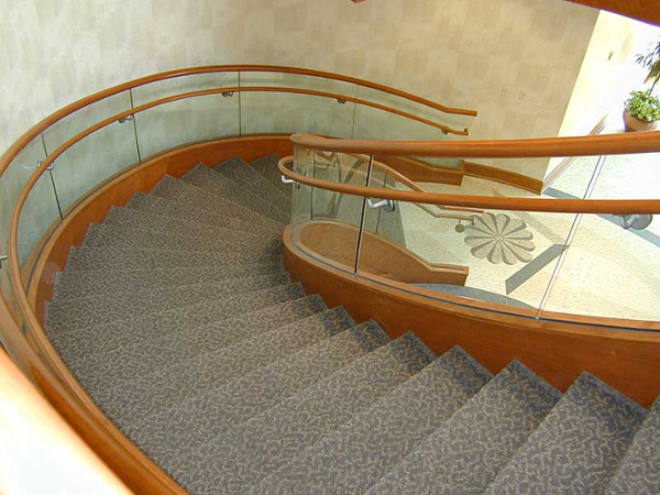 Just like you were walking down a curved stairway