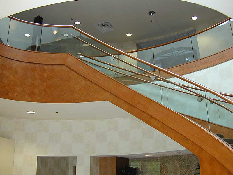 View of monumental stair at the main entrance