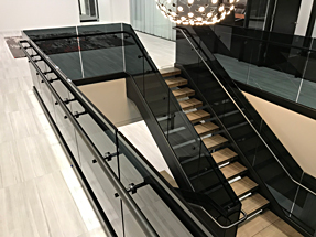 Blackened-Stainless Steel Stair